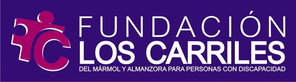 logo fundacion los carriles LINEAL FONDO MORADO SOBRE AZUL 273